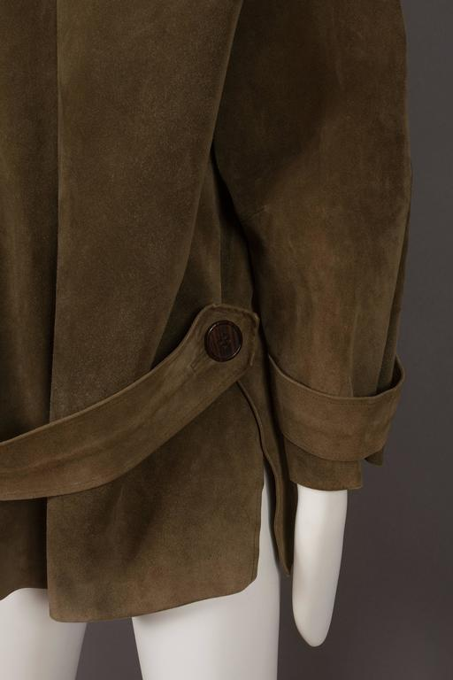Yves Saint Laurent Haute Couture Oversized Suede Coat, circa 1963 For Sale 2