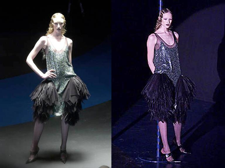 Alexander McQueen sequined flapper dress with tulle skirt, circa 2001 For Sale 5