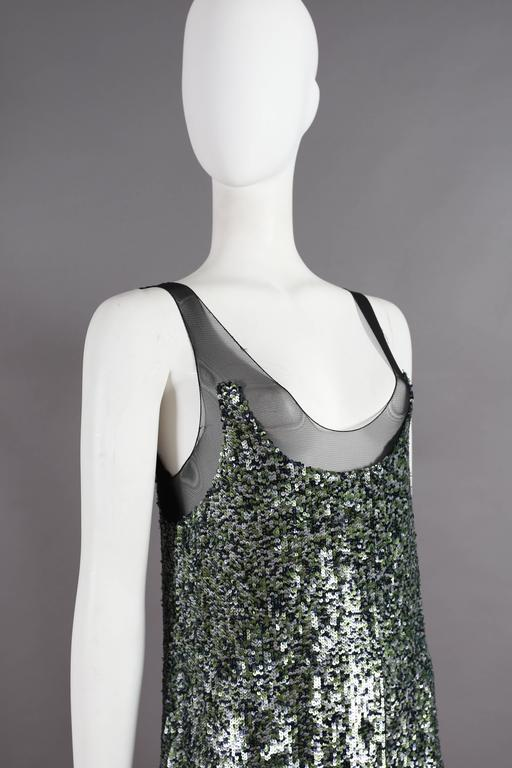 Alexander McQueen sequined flapper dress with tulle skirt, circa 2001 For Sale 2