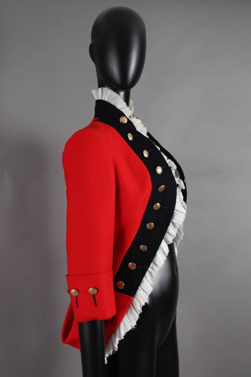 Women's Alexander McQueen red matador style jacket, circa 2008 For Sale