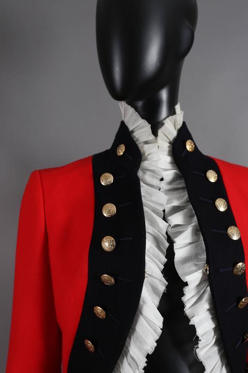 Alexander McQueen red matador style jacket, circa 2008 For Sale 1