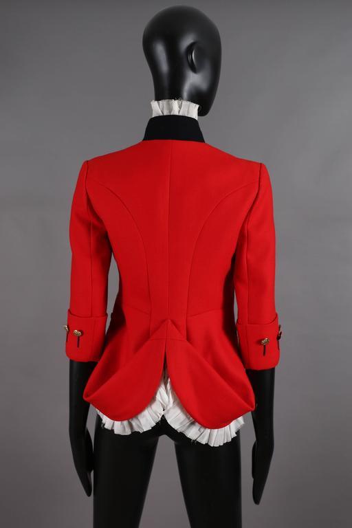Alexander McQueen red matador style jacket, circa 2008 For Sale 2