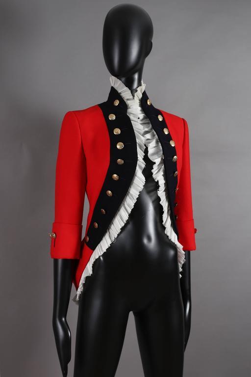 Alexander McQueen red matador style jacket, circa 2008 3