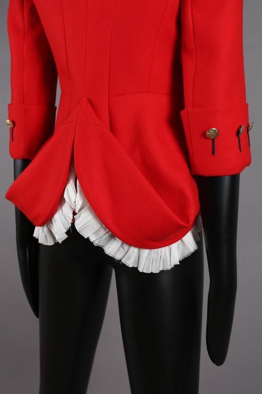 Alexander McQueen red matador style jacket, circa 2008 For Sale 3