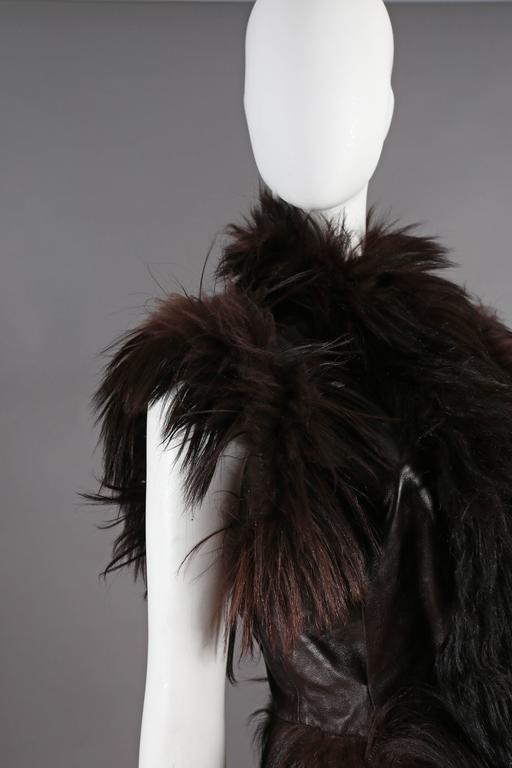 Alexander McQueen goat hair and leather gillet jacket, circa 2000 4