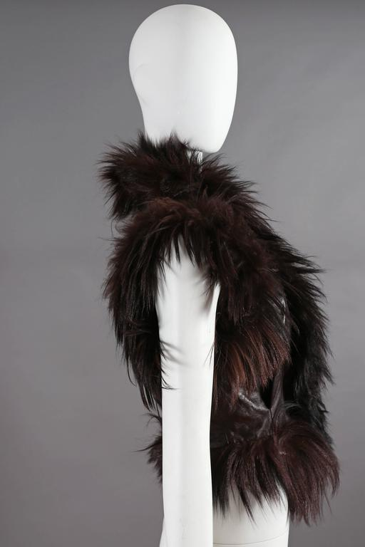 Alexander McQueen goat hair and leather gillet jacket, circa 2000 5