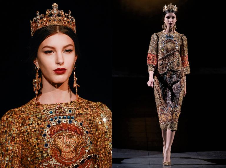 Dolce & Gabbana mosaic embellished shift dress, circa 2013 3