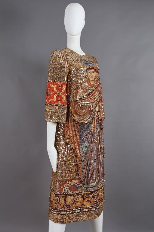 Dolce & Gabbana mosaic embellished shift dress, circa 2013 6