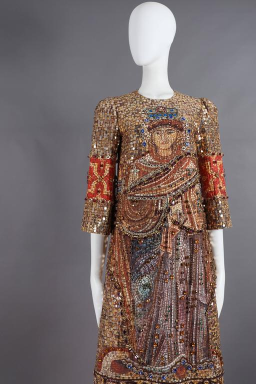 Dolce & Gabbana mosaic embellished shift dress, circa 2013 4