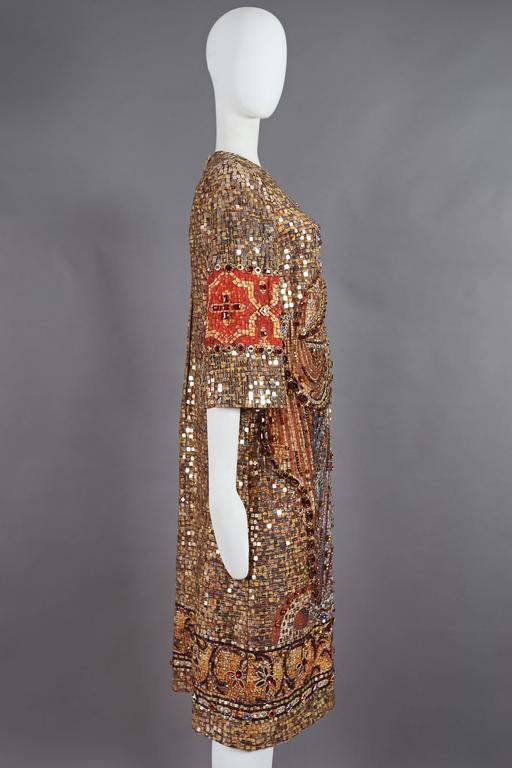 Dolce & Gabbana mosaic embellished shift dress, circa 2013 7