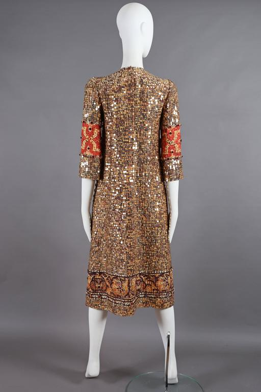 Dolce & Gabbana mosaic embellished shift dress, circa 2013 8