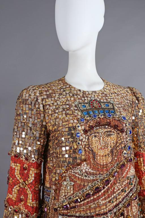Dolce & Gabbana mosaic embellished shift dress, circa 2013 5