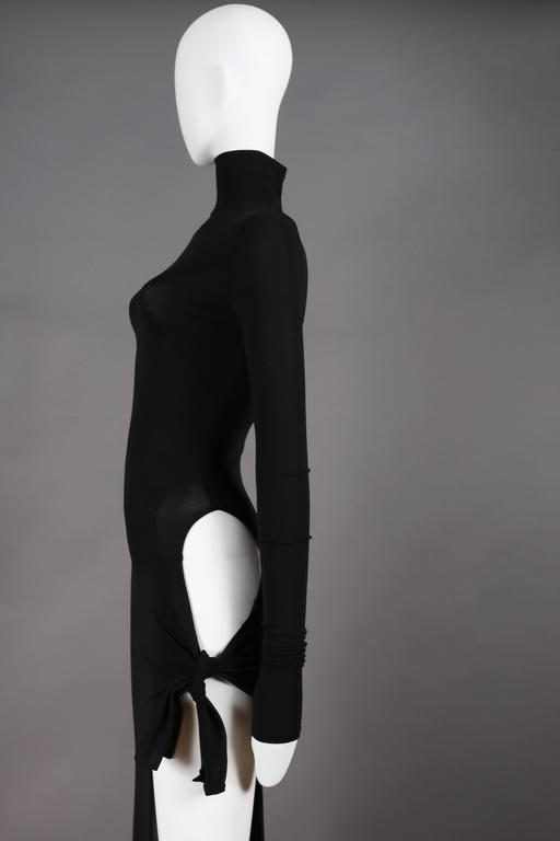 Dolce and Gabbana black bodycon evening dress with cut out ...