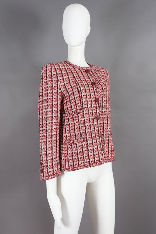 Brown Chanel classic tweed jacket, circa 2002 For Sale
