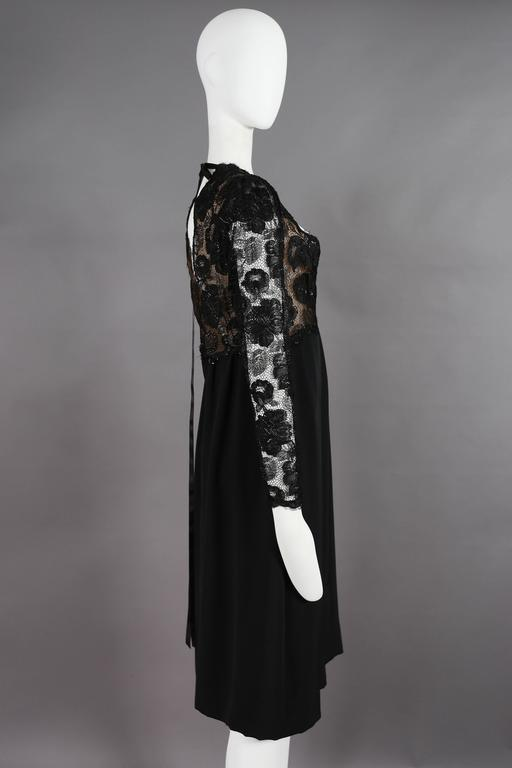 Yves Saint Laurent Haute Couture black lace cocktail dress, circa 1979 6