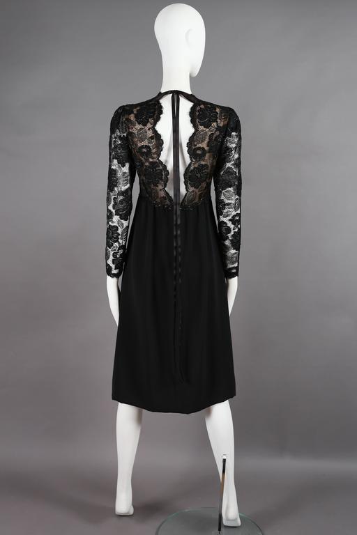 Yves Saint Laurent Haute Couture black lace cocktail dress, circa 1979 5