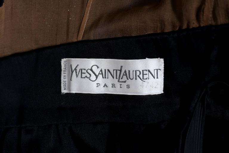 Yves Saint Laurent Haute Couture black lace cocktail dress, circa 1979 9