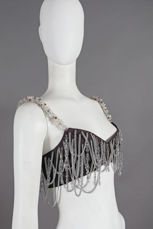Dolce & Gabbana beaded chain bralette, circa 1991 In Excellent Condition For Sale In London, GB