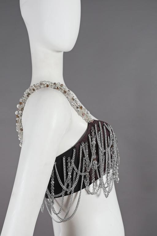 Dolce & Gabbana beaded chain bralette, circa 1991 For Sale 1