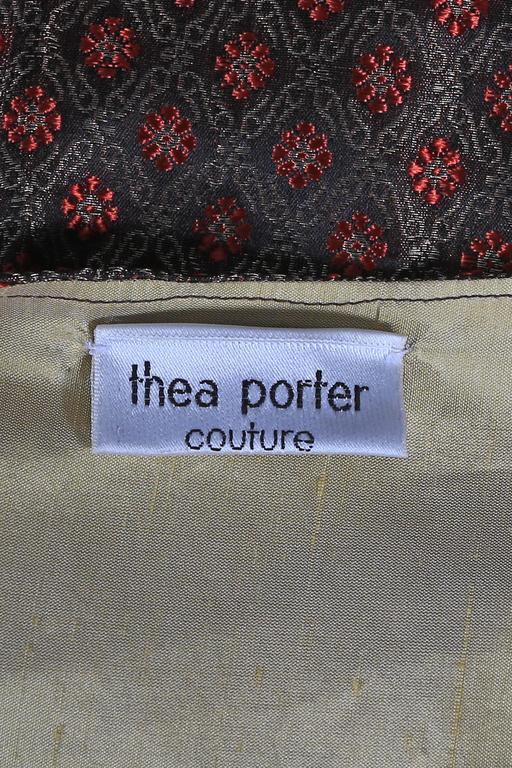 Thea Porter Couture brocade evening caftan, circa 1970s 8