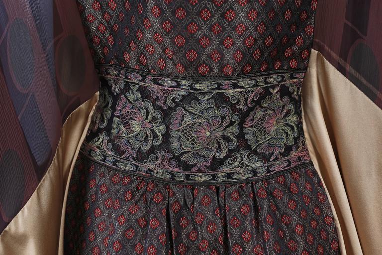 Thea Porter Couture brocade evening caftan, circa 1970s 7