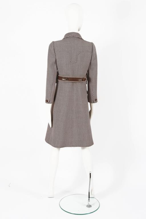 Courreges Haute Couture tailored tweed coat, circa 1969 For Sale 3