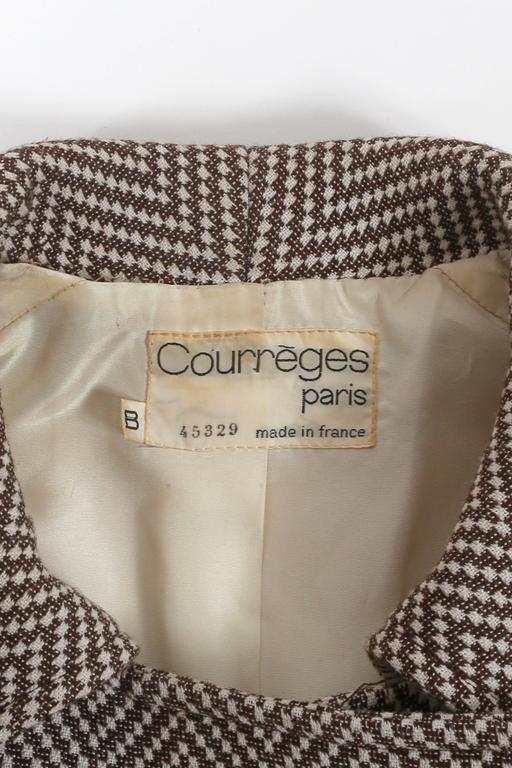 Courreges Haute Couture tailored tweed coat, circa 1969 For Sale 5