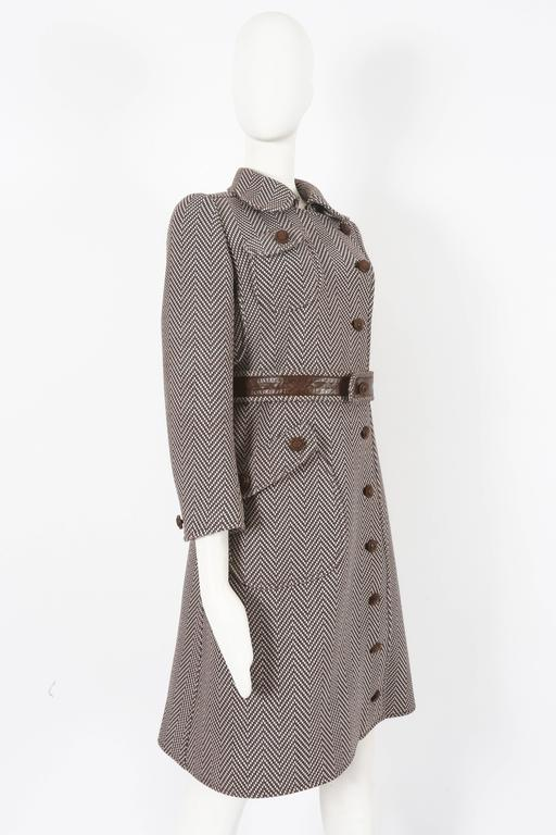 Women's Courreges Haute Couture tailored tweed coat, circa 1969 For Sale