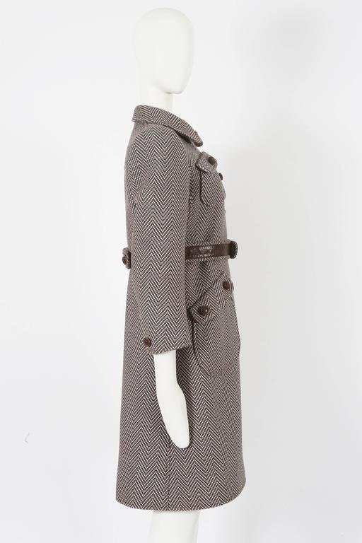 Courreges Haute Couture tailored tweed coat, circa 1969 6