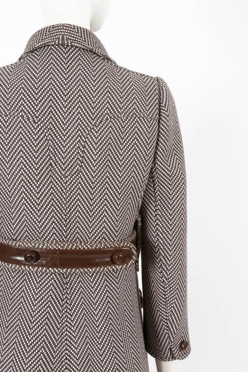 Courreges Haute Couture tailored tweed coat, circa 1969 For Sale 4