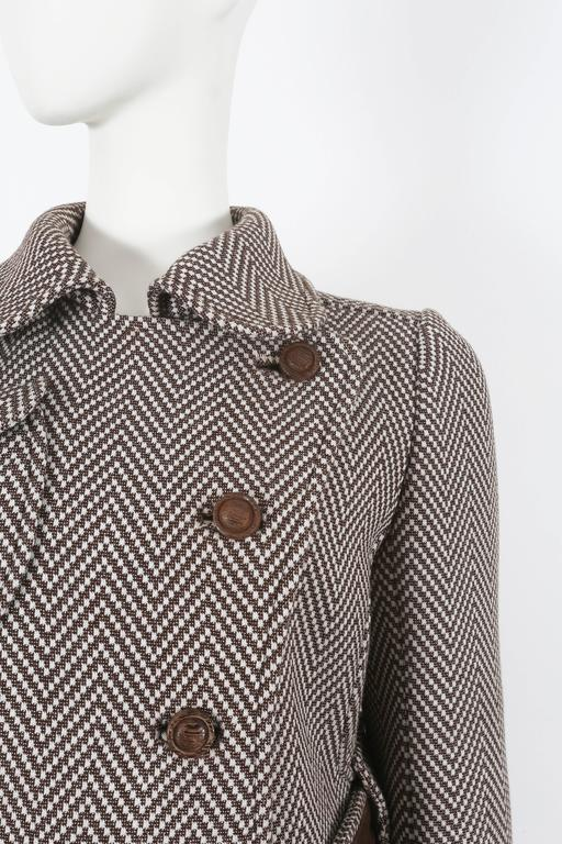 Courreges Haute Couture tailored tweed coat, circa 1969 In Excellent Condition For Sale In London, GB