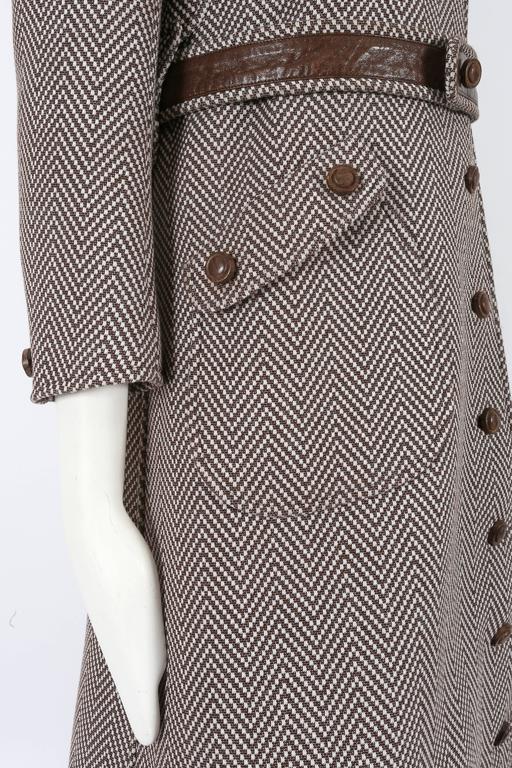 Courreges Haute Couture tailored tweed coat, circa 1969 7