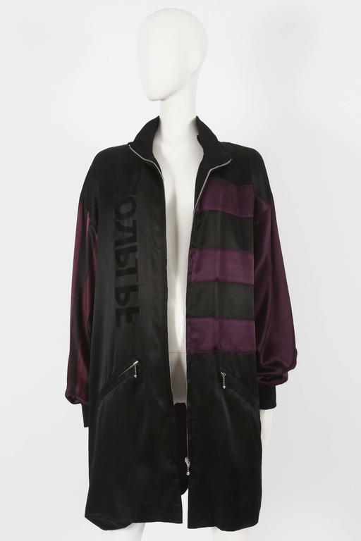 Black Jean Paul Gaultier unisex 'Russian Constructivist' oversized jacket, circa 1986 For Sale