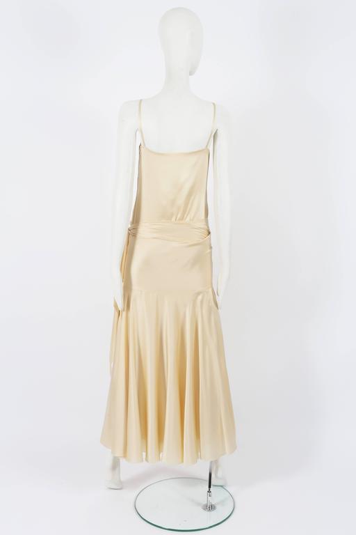 Christian Dior Haute Couture Ivory Silk Evening Dress, circa 1978 For Sale 1