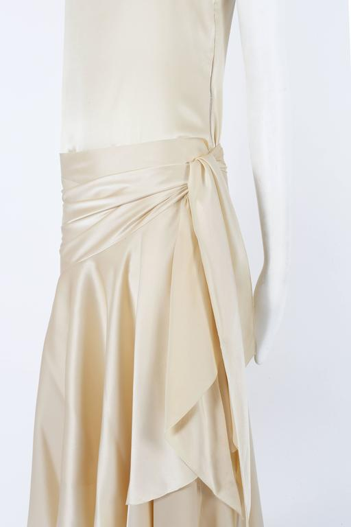 Christian Dior Haute Couture Ivory Silk Evening Dress, circa 1978 In Excellent Condition For Sale In London, GB