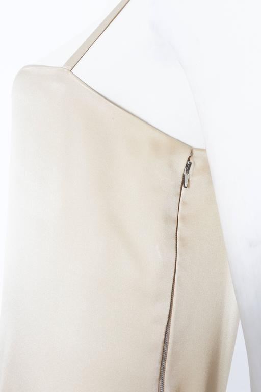 Christian Dior Haute Couture Ivory Silk Evening Dress, circa 1978 For Sale 2