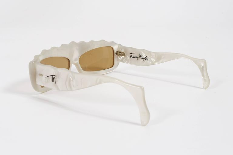 Thierry Mugler Galaxie Pearl Sunglasses, circa 1977-79 In Excellent Condition For Sale In London, GB