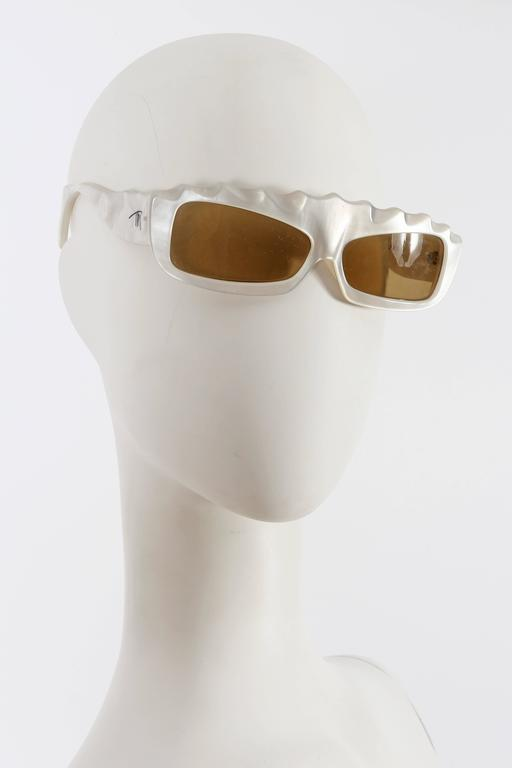 Women's Thierry Mugler Galaxie Pearl Sunglasses, circa 1977-79 For Sale