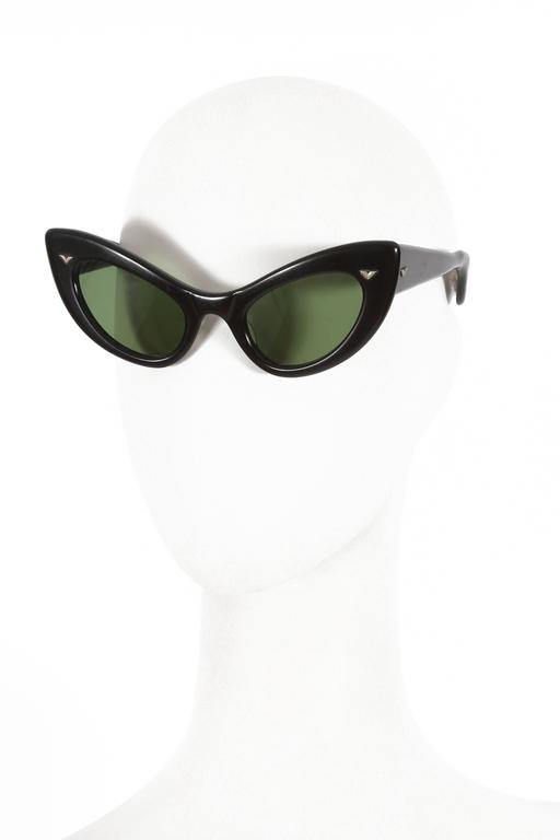 black cat eye sunglasses, circa 1950s 2