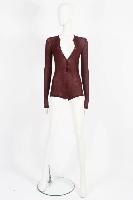 Tom Ford for Gucci knitted playsuit, circa 2002 In New Never_worn Condition For Sale In London, GB