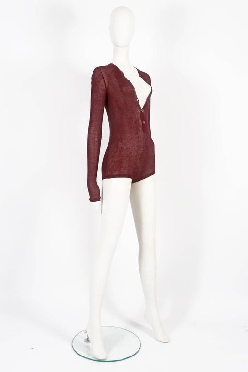 Tom Ford for Gucci knitted playsuit, circa 2002 For Sale 1