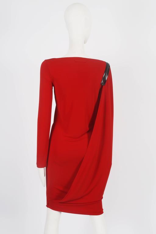 Jean Paul Gaultier red convertible zip dress, circa 2011 9