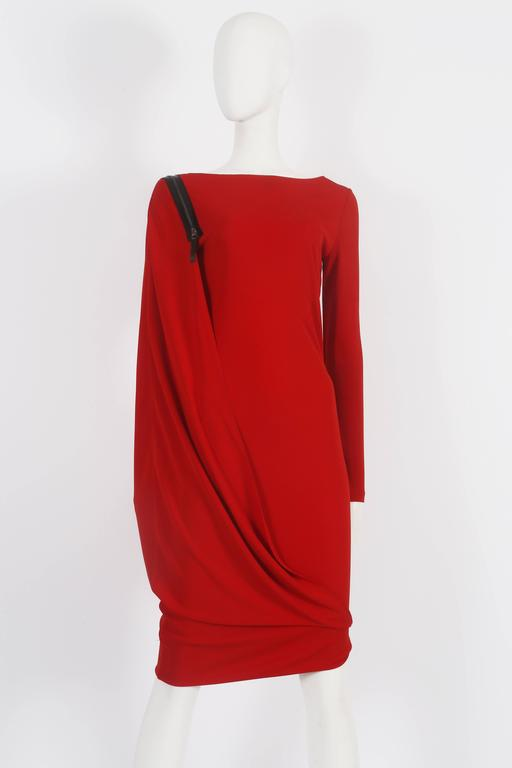 Jean Paul Gaultier red convertible zip dress, circa 2011 8