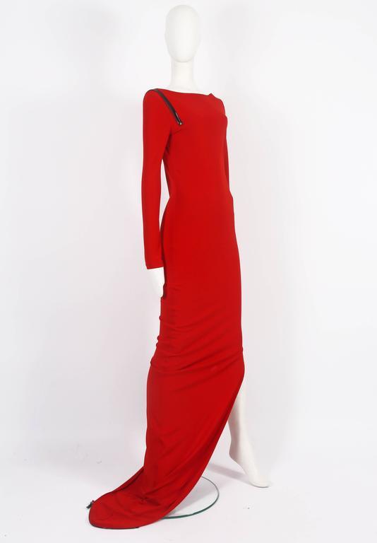 Jean Paul Gaultier red convertible zip dress, circa 2011 4