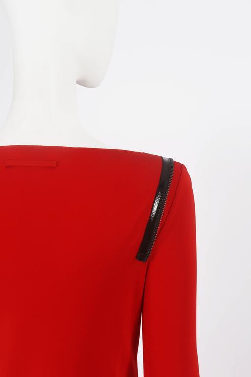 Jean Paul Gaultier red convertible zip dress, circa 2011 6