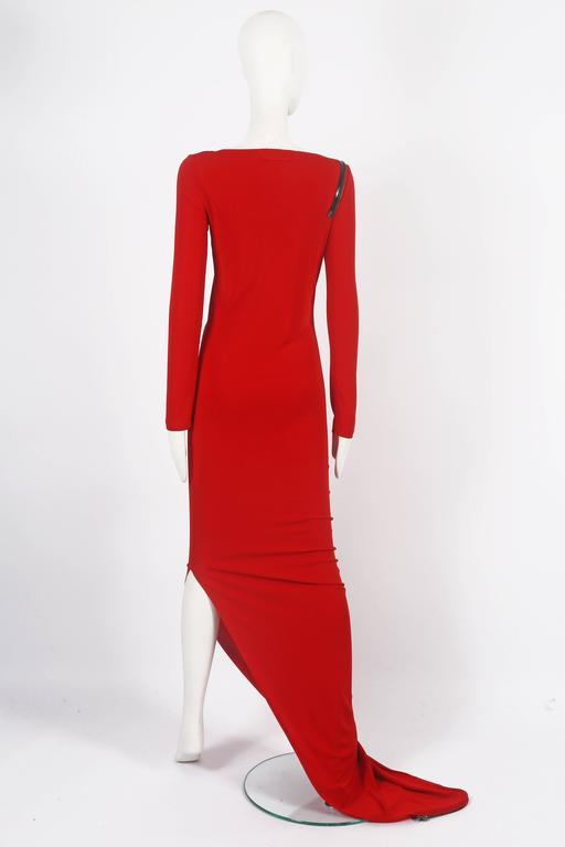 Jean Paul Gaultier red convertible zip dress, circa 2011 7