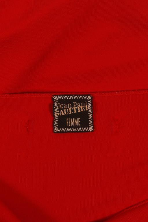 Jean Paul Gaultier red convertible zip dress, circa 2011 10