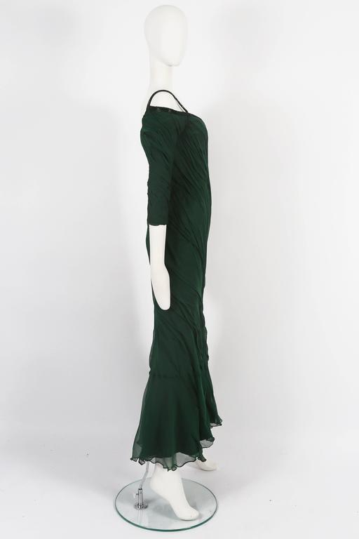 Antony Price bias cut chiffon evening gown, circa 1980s In Excellent Condition For Sale In London, GB