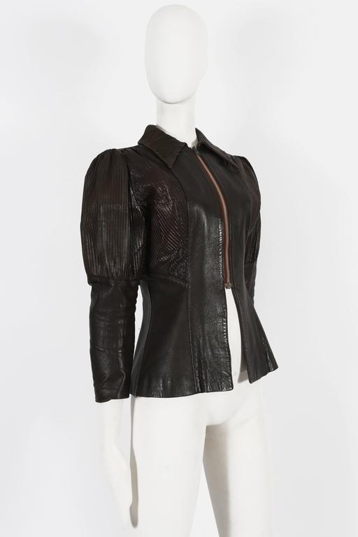 Ossie Clark 'Rocker' leather jacket, circa 1966 In Good Condition For Sale In London, GB