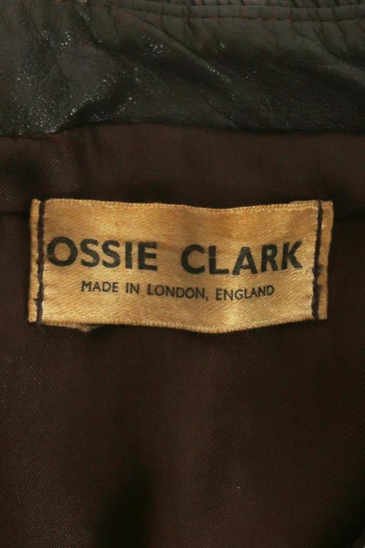 Ossie Clark 'Rocker' leather jacket, circa 1966 For Sale 2